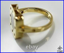 ROBERTO COIN Pois Moi 18K Yellow Gold & Mother of Pearl Square Polka Dot Ring