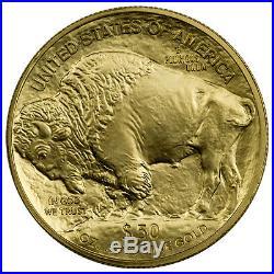Random Date 1 Oz. 9999 Fine Gold Buffalo $50 BU Coin SKU40538