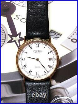 Raymond Weil mens watch 5514 Swiss Made ETA Quartz Movement 31.5 mm Coin Edge
