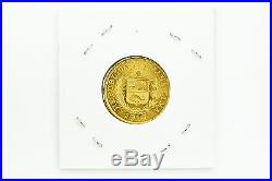Republica Peruana Peru Libra Lima 1917 1 Una Libre Gold Coin