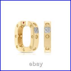 Roberto Coin 18K Yellow Gold Pois Moi Diamond Square Hoop Earrings