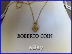 Roberto Coin 18k Solid Gold Pendant Necklace, Dainty