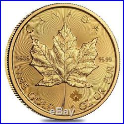 Roll of 10 1 oz Canadian Gold Maple Leaf Coin (Random Year)
