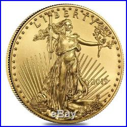 Sale Price 2019 1/2 oz Gold American Eagle $25 Coin BU