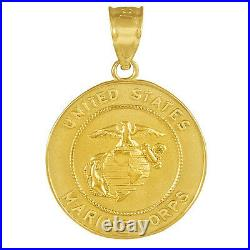 Solid US Marine Corps Gold Coin Pendant