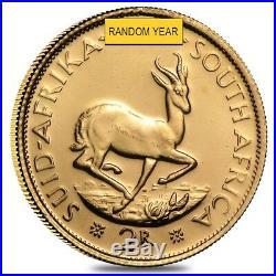 South Africa 2 Rand Gold Coin AU (Random Year)