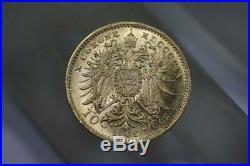 Vintage 1909 Austria 10 Coronas Coin 22K Solid Gold Rare Collectible Currency