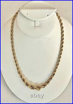 Wow-solid 14k Yellow Gold Italian Rope Necklace, See Gold Jewelry & Coins